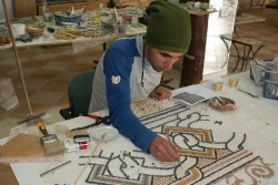 Mosaicist working