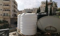 """""""Desire for water"""" in Bethlehem: new water tanks as gifts to Rana and her family"""