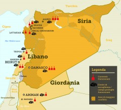 IT mappa francescani siria