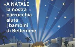 A Natale crea un ponte con i bambini di Betlemme