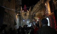 Waiting for Christmas in the streets of Jerusalem