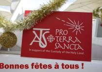 Association pro Terra Sancta – Nos meilleurs voeux pour un Noël Saint